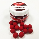 Boilies STÉG SmOke Ball PopUp jahoda 40g 16mm