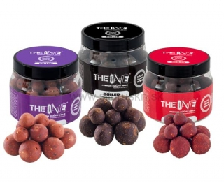 Boilies na háčik The One Purple 150g soluble boilies (mix 14-18-20mm)