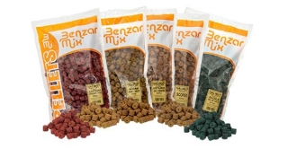 Pelety Benzar mix Halibut Pelety 12mm Cesnak 800gr.