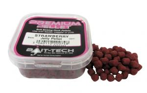 Pelety BAIT-TECH Jelly pelets -chuť Jahoda 6mm/150ml.