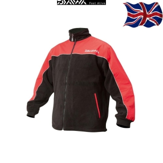 "Bunda DAIWA ""UK"" Fleece Jacket čierno-červená (L-XXL)"