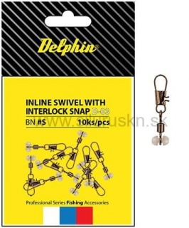 Karabínka s obratlíkom DELPHIN Inline head swivel with Interlock BN