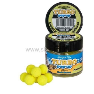 Boilies Benzar Mix Turbo pop-up 10mm Ananás 20ks