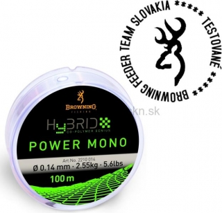 Vlasec BROWNING Power mono Hybrid 0,18mm 100m