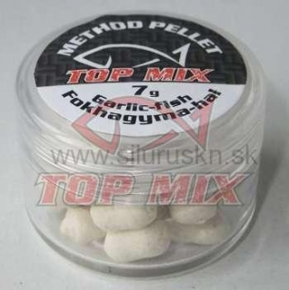 TOP MIX method pelety 8mm cesnak-ryba 7g
