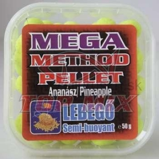 TOP MIX mega method pelety 11mm ananás 50g
