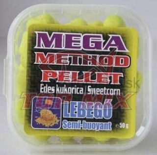 TOP MIX mega method pelety 11mm sladká kukurica 50g