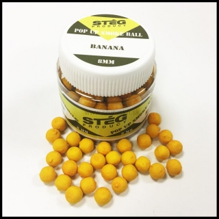 Boilies STÉG SmOke Ball PopUp banán 20g 8mm