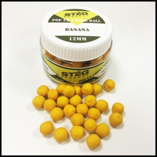 Boilies STÉG SmOke Ball PopUp banán 40g 12mm