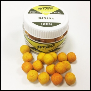 Boilies STÉG SmOke Ball PopUp banán 40g 16mm