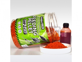 TÍMÁR Feeder Guru Feeding Pellet  1-3mm 500g+50ml Red Devil