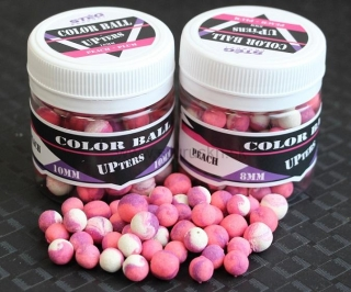 Boilies Stég UPters Color Ball Broskyňa & Slivka 10mm 30g