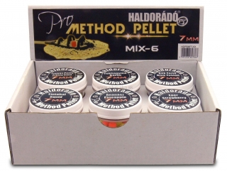 Pelety Haldorádo Pro Method 7mm set 6x10g