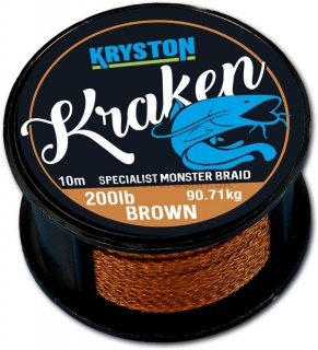 Šnúra Kryston Kraken Monster Braid 100Lbs 10m brown