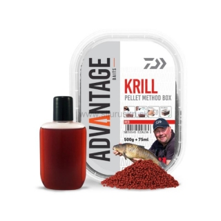 Pelety method box DAIWA Advantage Krill 500g + 75ml