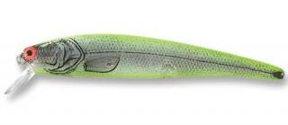Wobler BOMBER Long A B14A Silver Flash Chartreuse Back