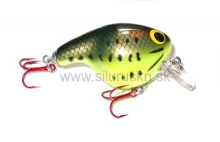 Wobler BAGLEY Fat Cat Glow Little Bass on Chartreuse