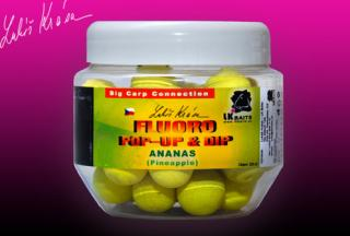 Boilies LK BAITS Pop-up Fluoro 18mm Ananás